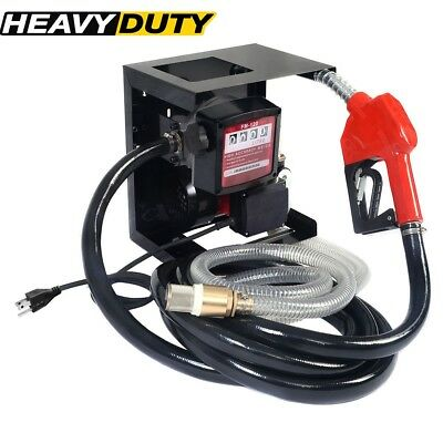 Top Electric Diesel Oil Transfer Pump 110v Fuel Manual Nozzle Hose W Meter