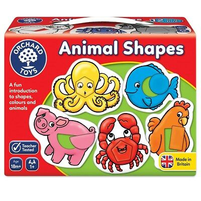Orchard Toys 021 Animal Shapes & Colours First Games Toddler Children 18 Months+