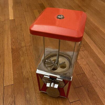 Vinatge A&A PN95 w/ Northwestern 60 Glass Globe 25 Cent Gumball Vending Machine