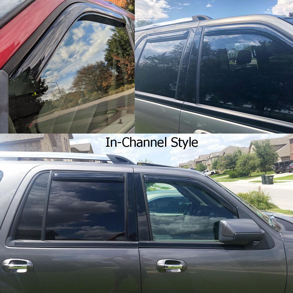 "Rain Guard Visor Dark Gray Type2 Sun Roof 1080mm 42.5/"" 97-17 Lincoln Navigator"