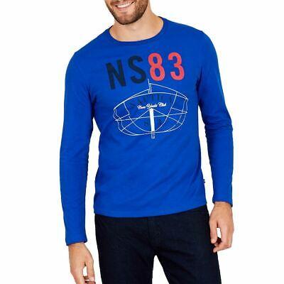NAUTICA Men's Ns 83 Long-sleeve Cotton Graphic Tee T-Shirt TEDO