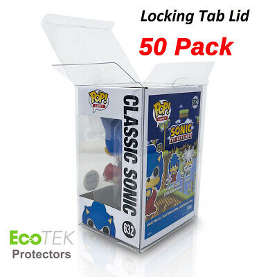 """50 Funko POP Acid-Free Crystal Clear Strong Protector case For 4"""" Vinyls Figures"""