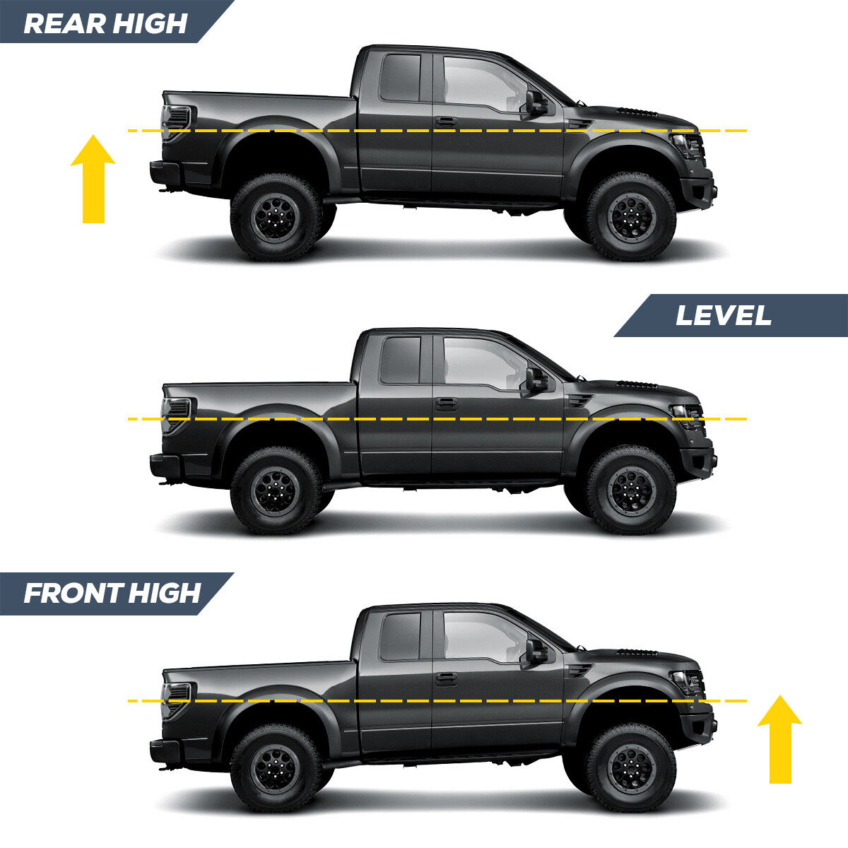 """For 2007-2018 Chevy Silverado Sierra GMC 3/"""" Front and 2/"""" Rear Leveling Lift Kit"""