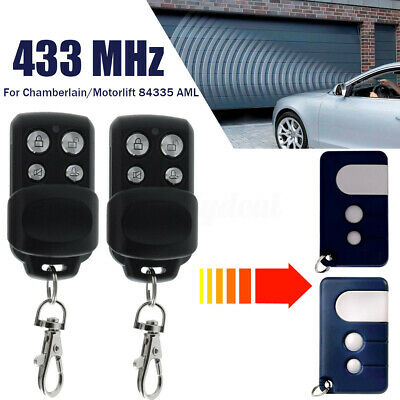 Gate Door Garage Remote Control Key 433MHz For Chamberlain Motorlift 84335 AML Garage Door Remote
