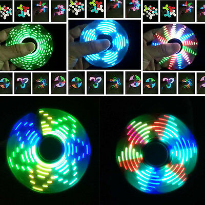 Hand Finger Fidget Spinner LED Pocket Gyro ADHS EDC 18 Muster Mehrfarbig Licht ()