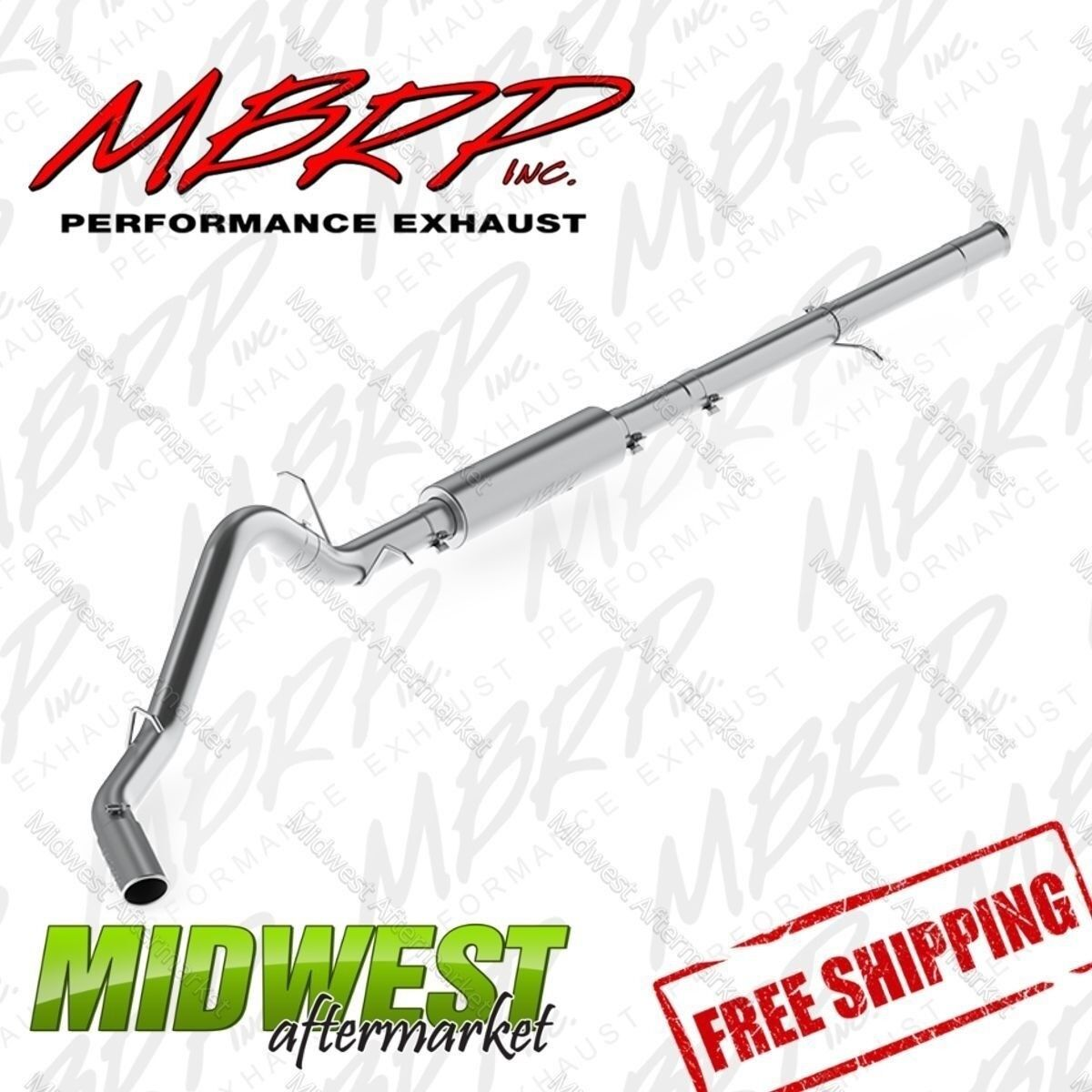 Single Side Exit Exhaust System MBRP S5086AL 3.5 Cat Back Aluminized Steel