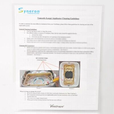 Syneron Velashape Vsmooth Large Applicator Cleaning Guidelines Wphotos Guide
