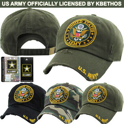 US Army Licensed Baseball Cap Hat Veteran Seal Adjustable Military