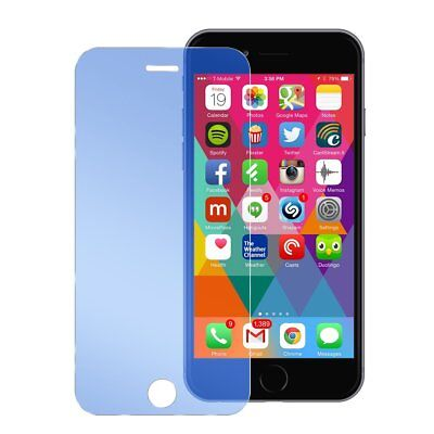 iPhone 6 6s Crystal Blue Mirror Tempered Glass Anti-Scratch Screen Protector Screen Protector Crystal Blue