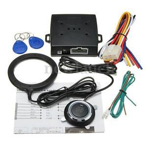 Smart Key RFID Car Alarm System Push Button Start Keyless Lock Ignition Starter