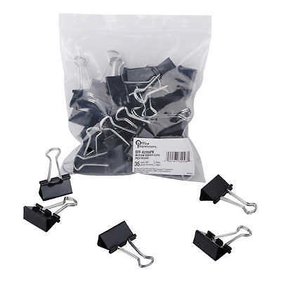 Office Impressions 108 Ct. Medium Binder Clips - Plastic Clip Steel Metal Wire