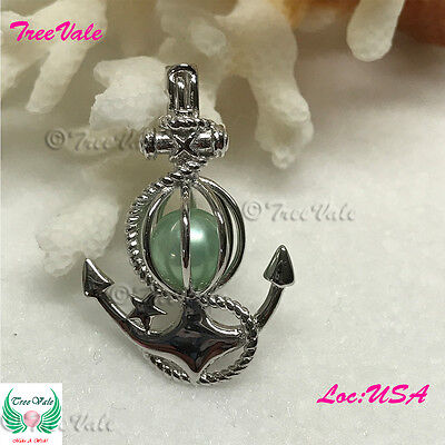Anchor of Fate PEARL CAGE PENDANT - Solid 925 Sterling Silver - Fun Gift!!