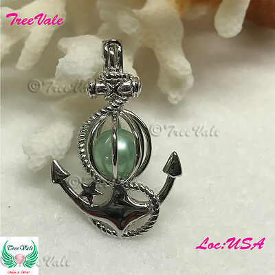 Anchor of Fate PEARL CAGE PENDANT - Solid 925 Sterling Silver - Fun Gift!! - Anchor Gifts