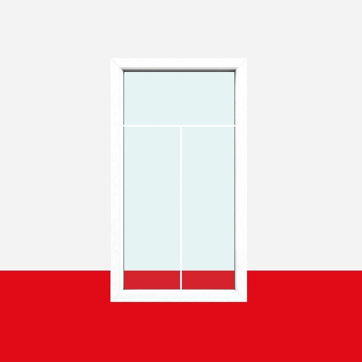 Sprossenfenster Typ 3 Felder Weiß   1 Flg. Festverglasung Mit 8mm SZR  T Sprosse