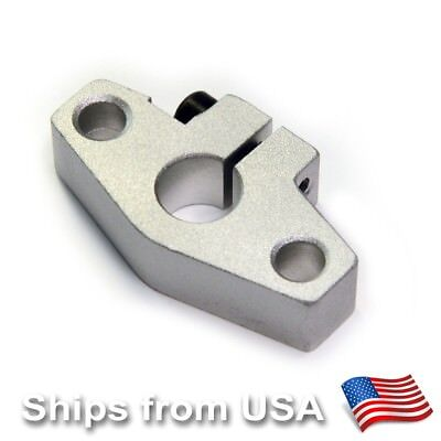 Shf10 10mm Linear Rail Shaft Guide Support Rod Holder Cnc Mill Reprap 3d Printer