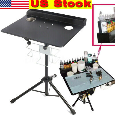 Desk Display Stand - Tattoo Mobile Display Stand Workstation Tray Desk Table Adjustable 61-107cm USA