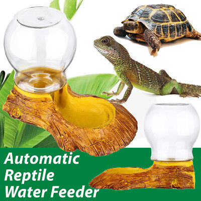 Automatic Drinking Water Dispenser Dish Feeder Bowl for Pet Tortoise Reptile !