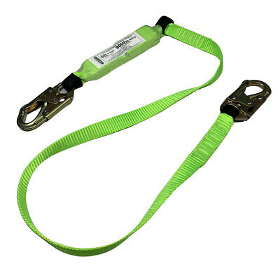 6 Fall Safety Lanyard Fall Protection Wdouble-locking Snap Hooks 1 Each