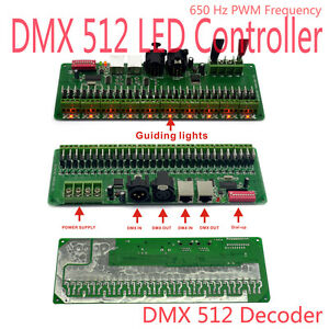 30 Channel DMX RGB LED Strip Controller DMX512 Decoder DMX Dimmer Driver 12V