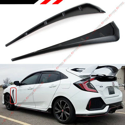 FOR 2016-2018 HONDA CIVIC FK8 TYPE-R STYLE ADD-ON FRONT FENDER SIDE VENT COVER