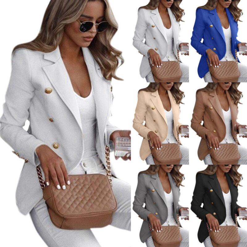 Damen Blazer Sakko Freizeitjacke Business Slim Anzug Jacke Mantel Arbeit Jacken