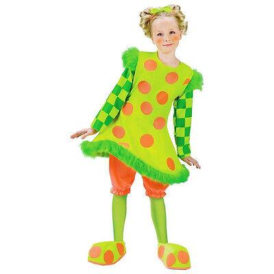 Lolli the Girls Clown Child Costume Neon Polka Dot Hoop Size Small - Clown Lolli Kostüm