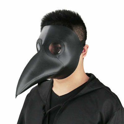 Plague Doctor Reenactment Leather Steampunk Bird Mask Gothic Cosplay Gift