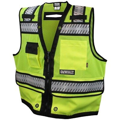 DeWALT Heavy Duty Class 2 Reflective Surveyor Safety Vest, Yellow/Lime