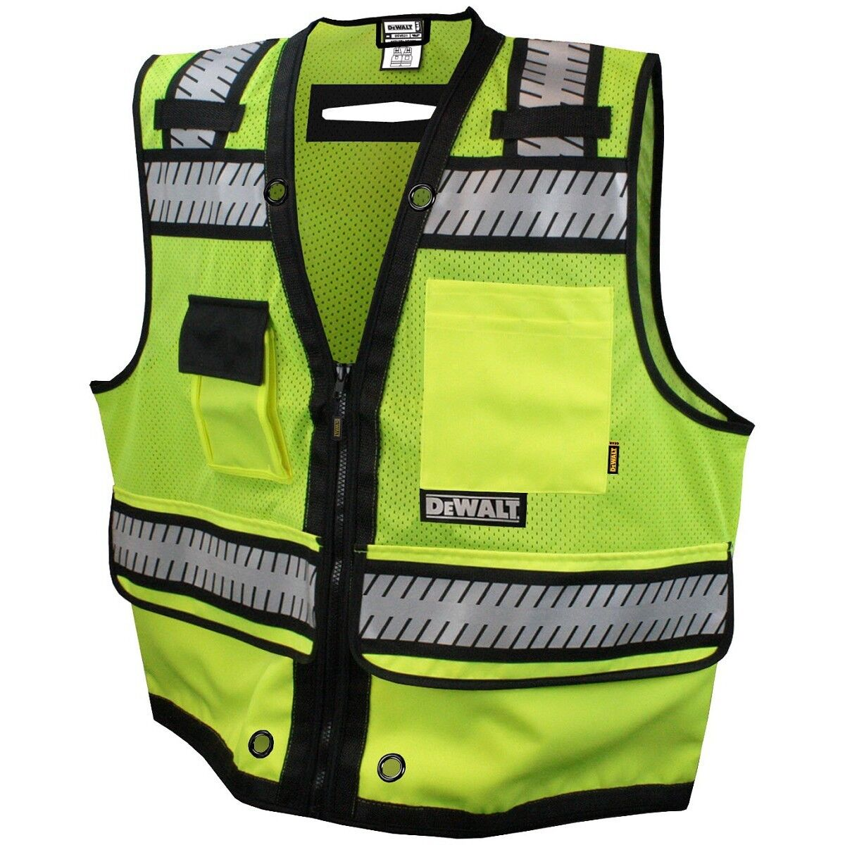 DeWALT Heavy Duty Class 2 Reflective Surveyor Safety Vest, Y