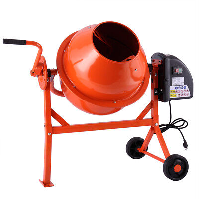 2-15cuft Mixer Concrete Cement Machine Electric Barrow Portable Heavy Duty
