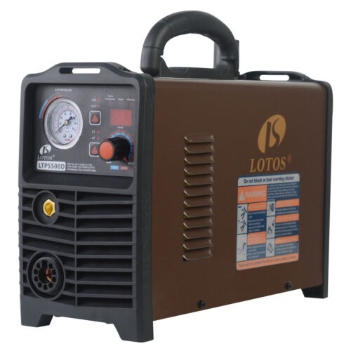 Lotos LTP5500D Non-Touch Pilot Arc Plasma Cutter, Dual Voltage 110V/220V, Brown