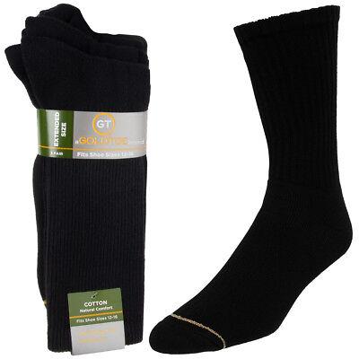 Gold Toe Socks (3 Pairs) Mens Socks Moisture Wicking Socks XL, Shoe Size 12-16 - Gold Socks