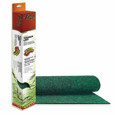 Zilla Green Terrarium Aquarium Liner Cage Carpet Mat 40 50 gallon size 18 x 36 ""