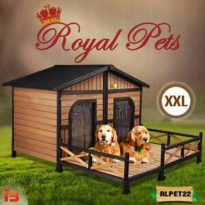XXL Waterproof Wooden House for Pet Dog with 2 Doors Fairfield Fairfield Area Preview