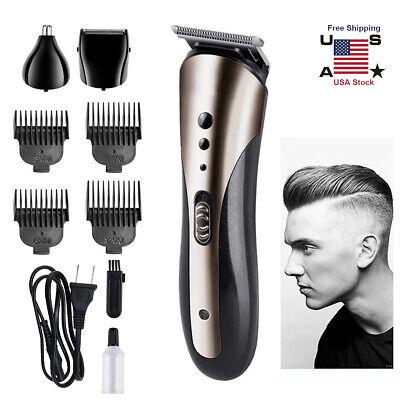 Mens Adult Electric Hair Cut Clipper Beard Shaver Machine Razor Nose Ear Trimmer