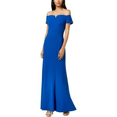 Calvin Klein Womens Notched Off-The-Shoulder Evening Formal Dress Gown BHFO 6108