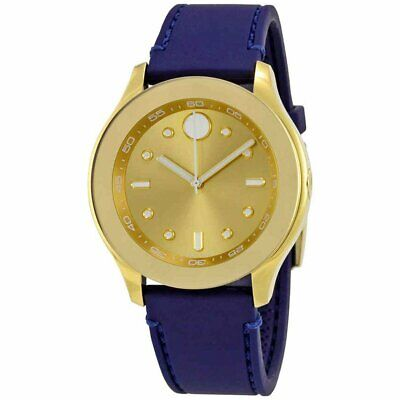 Movado 3600413 Women's Bold Swiss Quartz Gold Dial Strap Watch