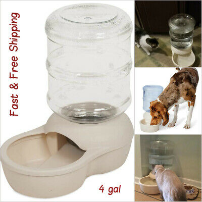 Automatic Water 4 Gallon Dispenser Dog Cat Pet Drinking Fountain Bowl Dish Large