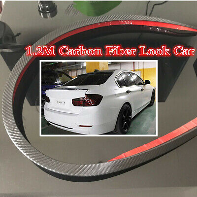 1.2 Universal Carbon Fiber Rear Wing Lip Spoiler For Car Roof Trunk Sticker Tirm