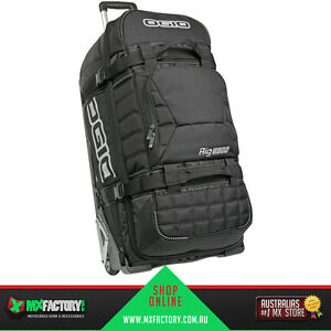 Ogio Rig 9800 Stealth Wheeled Motocross Gear Bag / Travel Luggage