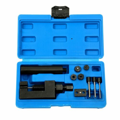 Deluxe Chain Breaker Riveter Cutter Tool Kit Motorcycle Bike Cam Drive Pitch ATV