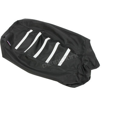 Parts Unlimited Black/White Gripper Ribbed Seat Cover - 0821-2896