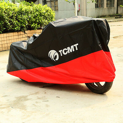 XXXXL Waterproof Motorcycle Cover For Harley Touring Sportster Softail Dyna RED