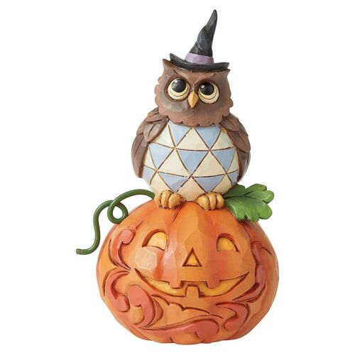Jack-O-Lantern & Owl Figurine by Jim Shore ~ A Halloween Must-Have ~