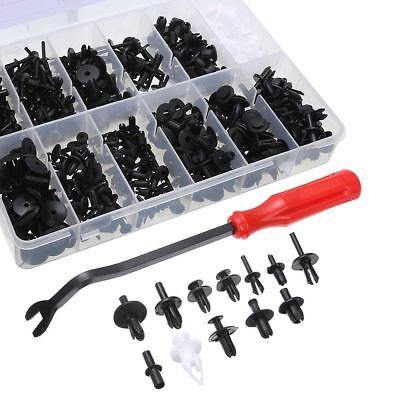 350pcs Plastic Rivets Fastener Fender Bumper Push Pin Clips Set + Remover Tool