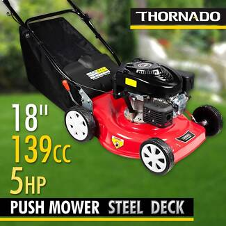 Thornado 18 Inch 5HP Hand Push Lawn Mower Lawnmower Steel Body Chipping Norton Liverpool Area Preview