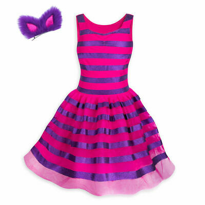 Disney Store Cheshire Cat Costume Tutu Dress Headband Juniors Alice - Tutu Stores