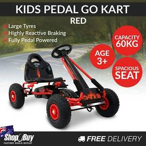 Free Delivery: Kids Pedal Go Kart - Red Homebush Strathfield Area Preview