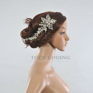 luxe fleu couronne mariee bandeau bijoux diademe accessoires - Accessoir Cheveux Mariage