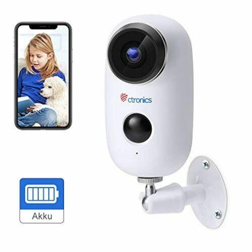Ctronics WLAN Akku Überwachungskamera Outdoor, Kabellose 1080P Batterie IP65 A3
